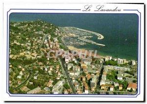 Modern Postcard The French Riviera Le Lavandou Aerial view