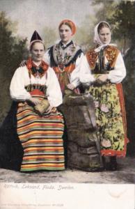 Sweden Rattvik Seksand Floda Locals In Traditional Costume