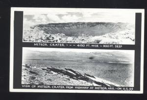 RPPC METEOR CRATER ARIZONA ROUTE 66 WINSLOW VINTAGE REAL PHOTO POSTCARD