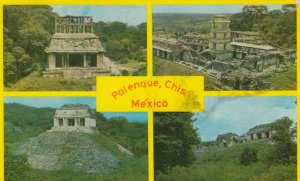 PALENQUE, Chiapas, Mexico, 1940-60s; 4-views