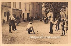 Old Vintage Lawn Bowling Postcard Post Card Bowlers Writing on back
