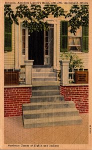 Illinois Springfield Abraham Lincoln's Home 1953 Curteich