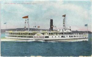 D/B South Shore Nantasket Beach Boat, Massachusetts MA 1909