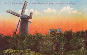 Dutch Windmill At Sunrise Golden Gate Park San Francisco California