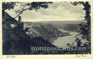 Am Rhein Germany, Deutschland Postcard Burg Maus Am Rhein Burg Maus