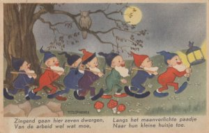 AS: SCHERMELE; 1920-30s; Snow White, Seven dwarfs coming home from work