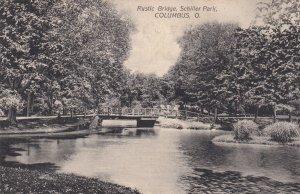 COLUMBUS, Ohio, PU-1908; Rustic Bridge, Schiller Park