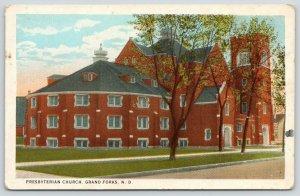 Grand Forks North Dakota~First Presbyterian Church~Backside~1916 Postcard