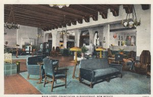 ALBUQUERQUE , New Mexico , 1910-20s ; Main Lobby , Franciscan Hotel