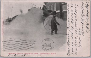 Ironwood, Mich., Snowstorm in January 1899-Trolley Snowplow-1905