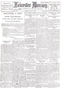 Leicester City Restored 1919 Newspaper Cover Rare Ephemera