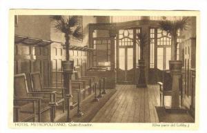 Hotel Metropolitano (Una Parte Del Lobby-2) Quito, Ecuador, 1900-1910s