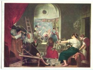 Diego Velazquez, Die Spinnerinnen, unused Postcard