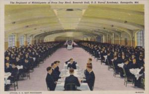 Maryland Annapolis Regiment Of Midshipmen At Noon Day Meal Bancroft Hall U S ...