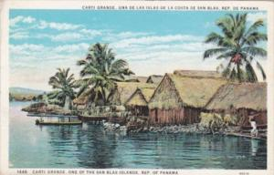 Panama Carti Grande Native Huts One Of The San Blas Islands