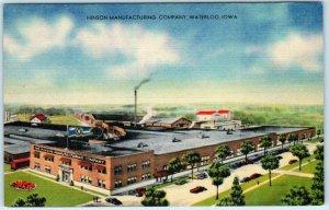 WATERLOO, Iowa  IA  ~ HINSON MANUFACTURING COMPANY c1940s Linen  Postcard
