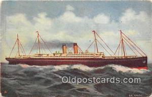 Steamship Baltic White Star Fleet Ship Postcard Post Card White Star Fleet Po...