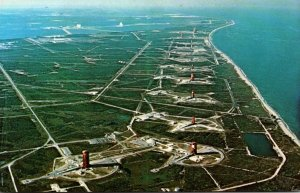 Florida John F Kennedy Space Center Overall Aerial View Of Missile Row Lookin...