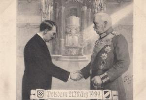 Tag von Potsdam Adolf Hitler Carl Longhorst Artist Signed 1933 Postcard