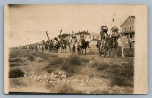 CHEYENNE AMERICAN INDIANS SOUTH DAKOTA ANTIQUE REAL PHOTO POSTCARD RPPC