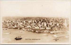 Seattle WA Birdseye c1935 Laidlaw Unused Real Photo Postcard F11