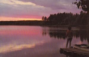Tranquil Lakeside Sunset Scene