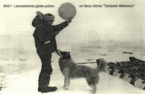 argentina, Antarctic Teniente Matienzo Air Base, Launching Pilot Balloon
