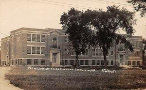LPS04 Laconia New Hampshire High School Postcard RPPC