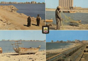 Abu Dhabi Fisherman Fishing Nets United Arab Emirates Postcard