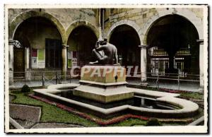 Perpignan Old Postcard Interior of Maillol Monument Hall