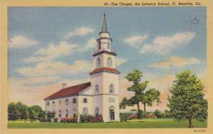 Chapel at the Infantry School - Fort Benning GA, Georgia - pm 1949 - Linen