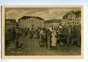 203291 WWI LATVIA MITAU Jelgava Market german military RPPC