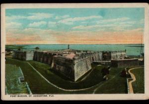 St Augustine FL Newington CT Ft Marion 1912 Geraldine Huck Vintage Postcard E01