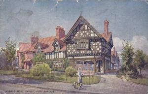 Woman Walking The Dog, Village Post Office, Port Sunlight (Merseyside), Engla...