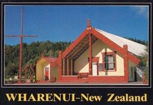 Wharenui God Of Peace Tribe Meeting Room New Zealand Postcard
