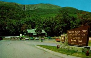 New Hampshire Pinkham Notch Camp Welcome Sign