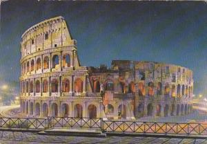 Italy Roma Rome Il Colosseo At Night