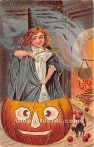 Halloween Postcard Old Vintage Antique Postcard Post Card 1909