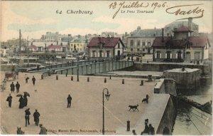 CPA CHERBOURG Le Pont Tournant (128358)