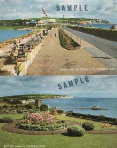 Sandown Isle Of Wight 2x Rare SAMPLE 1970s Postcard s