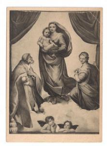 Sistine Madonna Painting Raphael Raffael Dresden Museum