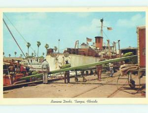 Unused Pre-1980 BANANA DOCKS Tampa Florida FL hn0620