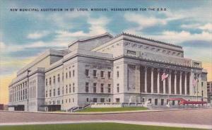 Missouri Saint Louis New Municipal Auditorium In Saint Louis Headquarters For...