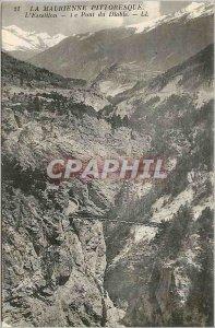 Old Postcard Maurienne Picturesque Esseillon The Bridge of the Devil