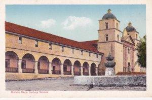 SANTA BARBARA California, 1910-20s; Historic Mission, Fountain