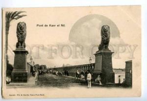133005 EGYPT CAIRE CAIRO Pont de Kasr el Nil Vintage postcard