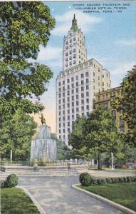Court Square Showing Fountain and Columbian Mutual Tower Memphis Tennessee