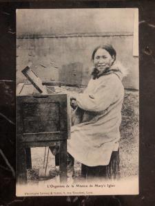 Mint France  RPPC Postcard the organist Of Marys Igloo Alaska Mission