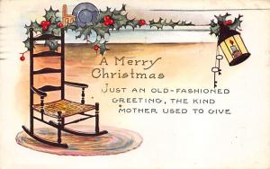 Christmas Post Card Old Vintage Antique Xmas Postcard Whitney Publisher 1931