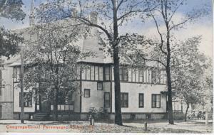Amboy Illinois IL ~ Congregational Parsonage ~ Vintage c1921 Postcard